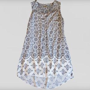 Hatley split neck tiled mandala dress M